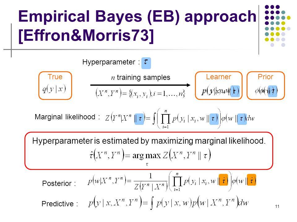 Empirical Bayes (EB) approach [Effron&Morris73]